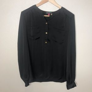 Vince Camuto Black Long Sleeve Blouse Size Small